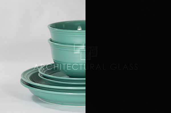 Black Enameled Decorative Glass
