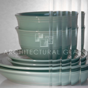 Reeded Pattern Glass