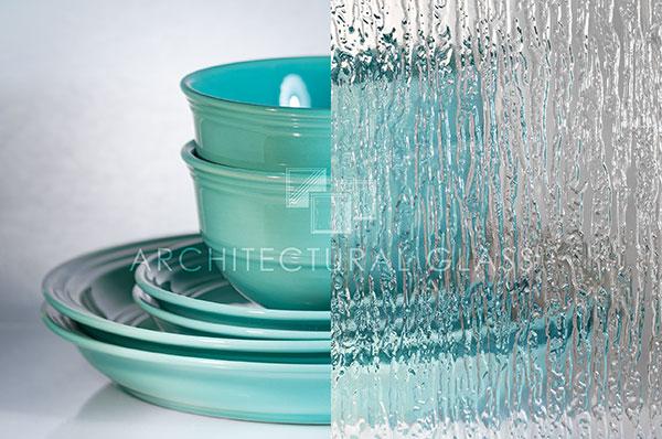 Rain pattern glass