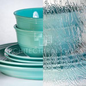 Seafoam pattern glass