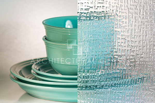 Nue abstracto pattern glass
