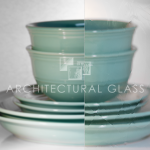 Lightly distorted pattern glass
