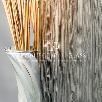 Close up of Wood Acid Etched Glass