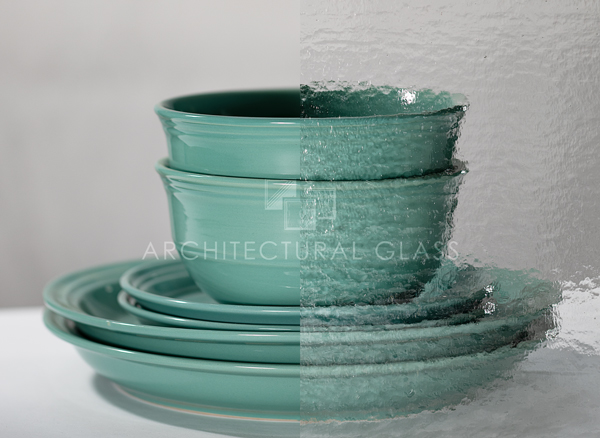 Wismach double rolled pattern glass