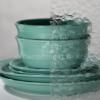 Wissmach clear florentine pattern glass