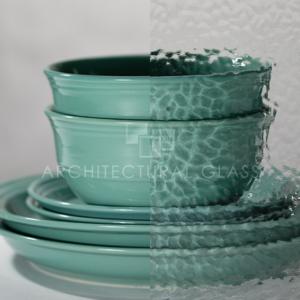 Wissmach English Muffle Pattern Glass