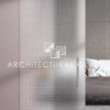 Glass Barn Door with Screen Acid Etched Glass