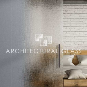 Glass Barn Door with Thela Pattern Glass