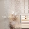 Glass Barn Door with Glue Chip Pattern Glass