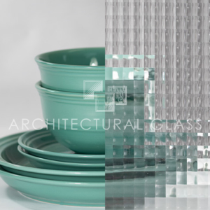 Cross Reed pattern glass