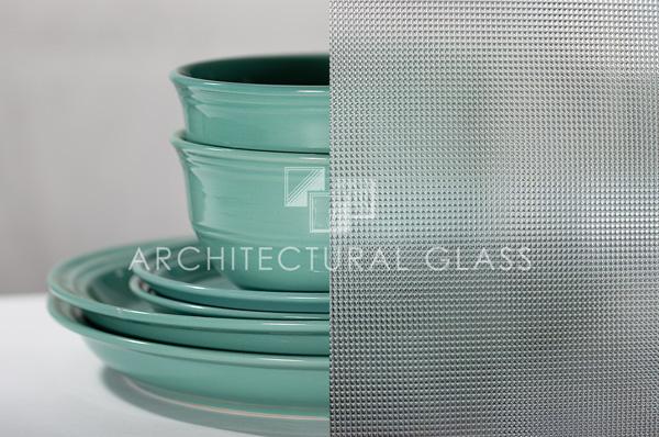 1/16 inch cross reed pattern glass