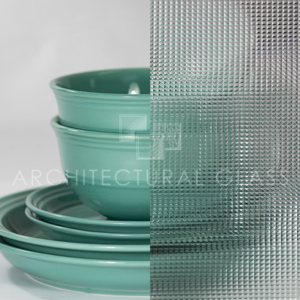 Cross Reeded Pattern Glass