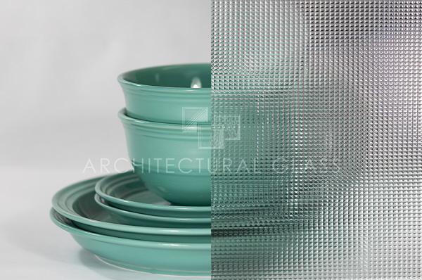 Cross Reeded Pattern Glass