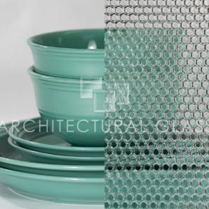 Beehive geometric pattern glass