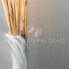 Acid etched glass with linear pattern