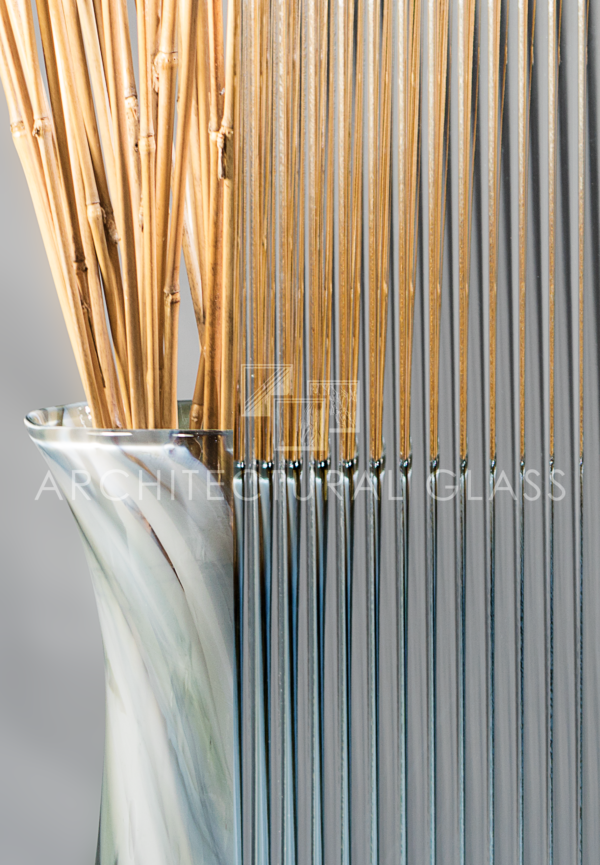 Half inch reeded pattern glass