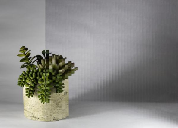 Rivuletta pattern glass