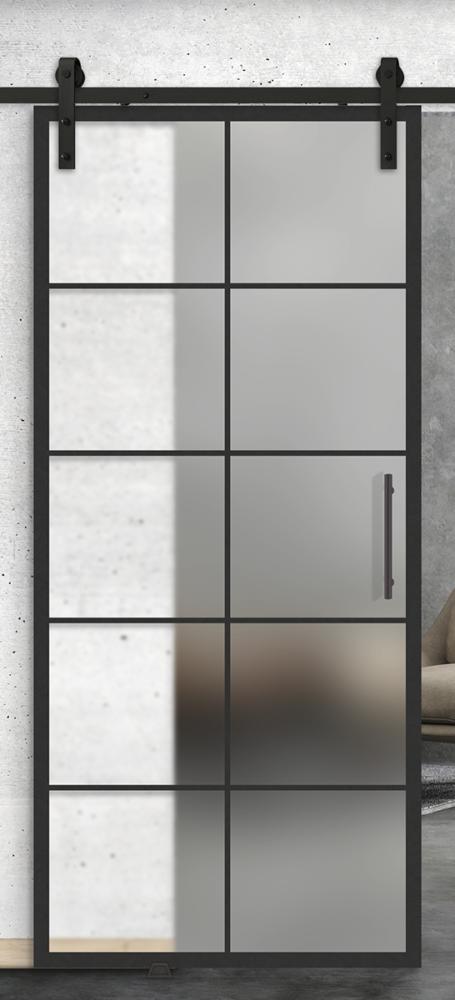 10 lite printed glass door