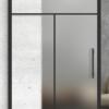 3 mixed lite over 1 panel printed barn door