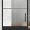 4 lite vertical over 1 panel glass door