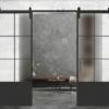 6 lite over 1 panel double glass doors