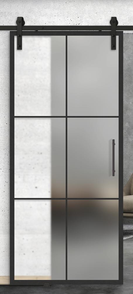 6 Lite printed glass door