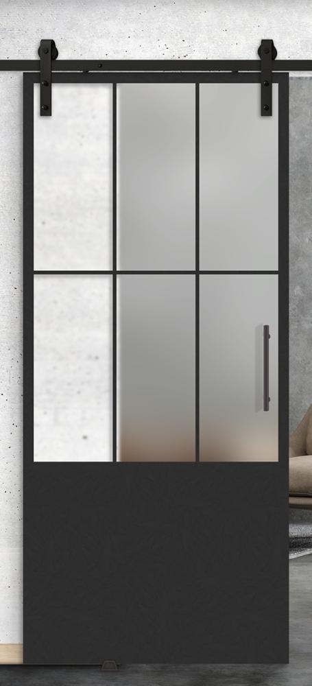 6 lite vertical over 1 panel glass door