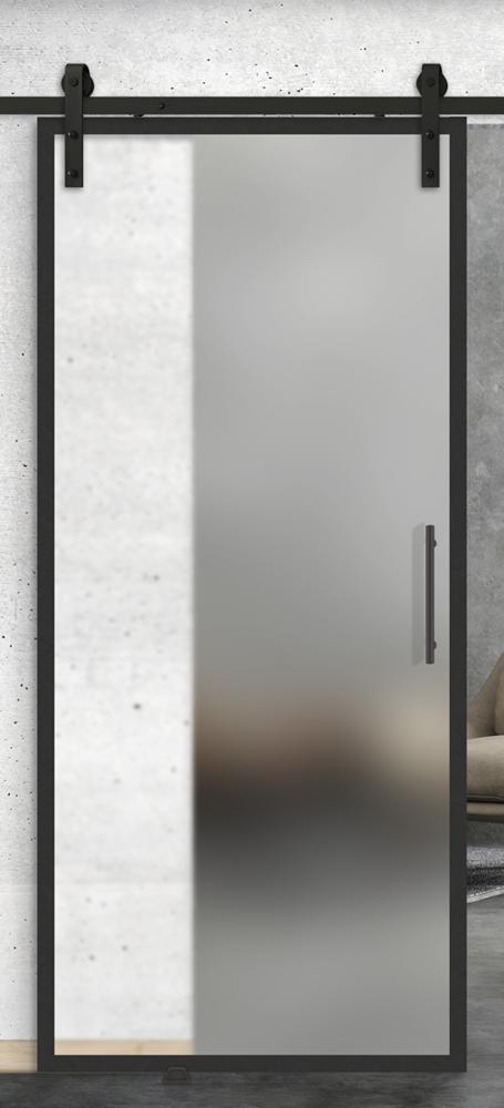 Full lite printed glass door