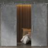 stone grey double glass door